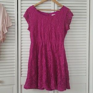 Fusia Lace Dress